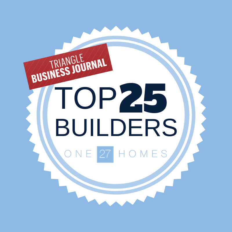 Breaking News One27homes Named A Tbj 2018 Top 25 Home Builder In The Triangle Clayton Nc Real Estate Blog