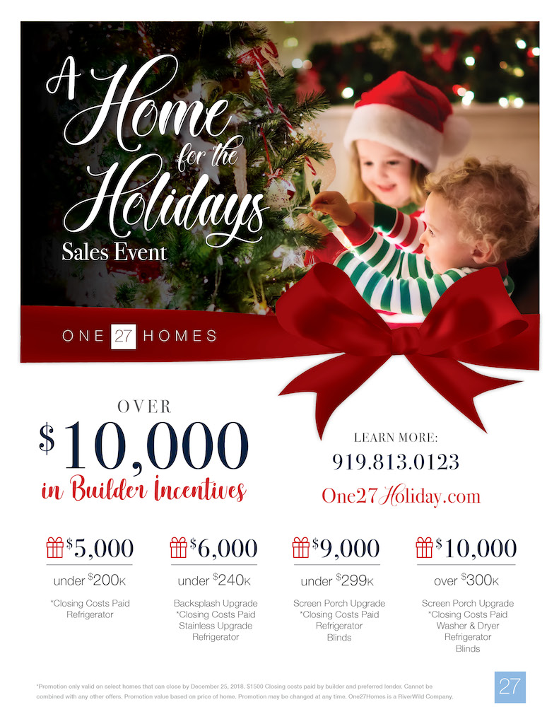 Home for the Holidays Promo by One27Homes