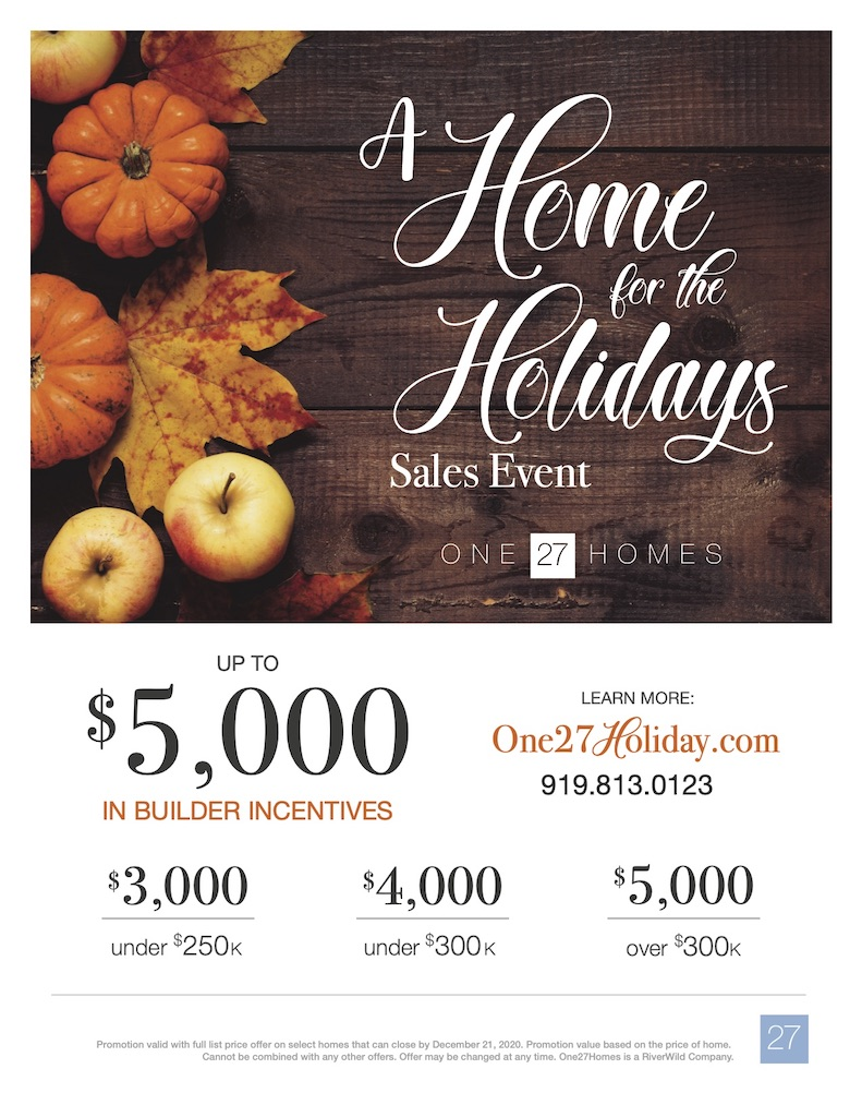 learn all about the Home for the Holidays sales event